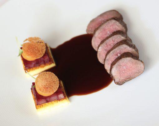 Dos de chevreuil rôti (par Julien Binz)
