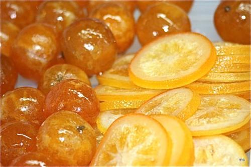 Oranges confites en tranches